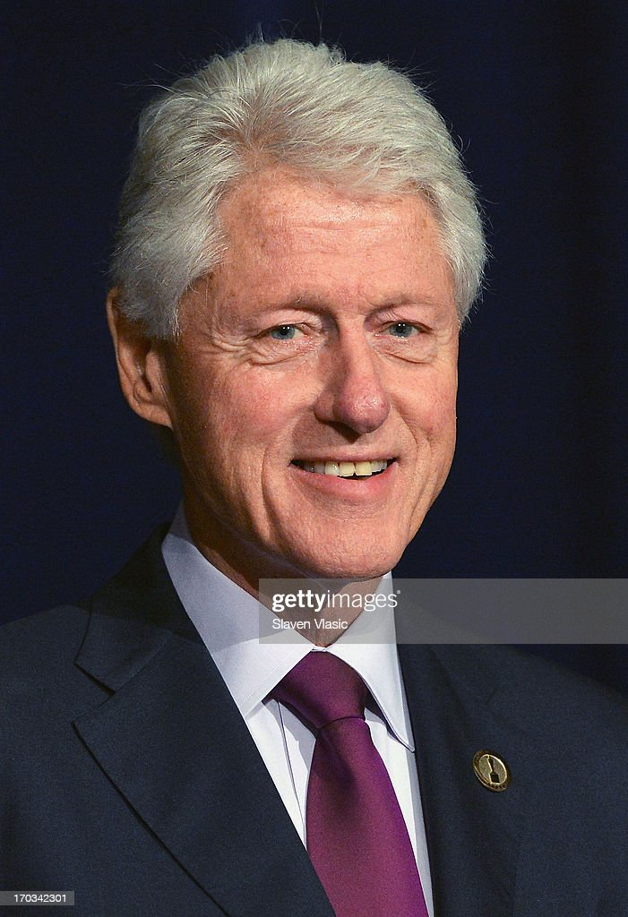 Former U.S. President <a gi-track='captionPersonalityLinkClicked' href=/galleries/search?phrase=Bill+Clinton&family=editorial&specificpeople=67203 ng-click='$event.stopPropagation()'>Bill Clinton</a> attends 72nd Annual Father Of The Year Awards at Grand Hyatt New York on June 11, 2013 in New York City.