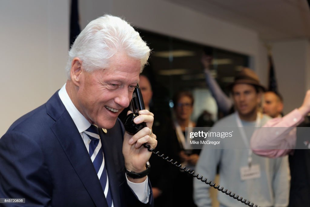 Former U.S. President Bill Clinton attends Annual Charity Day hosted by Cantor Fitzgerald, BGC and GFI at BGC Partners, INC on September 11, 2017 in New York City.