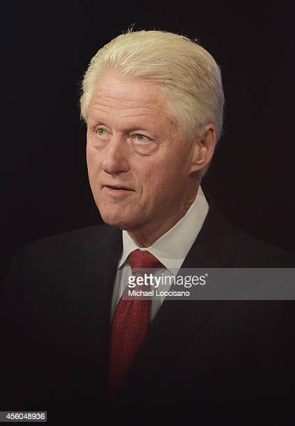 Former US President Bill Clinton attends the Closing Plenary Session 'Aiming for the Moon and Beyond' during the fourth day of the Clinton Global...