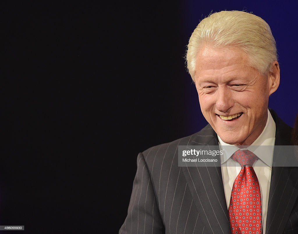 Former U.S. President <a gi-track='captionPersonalityLinkClicked' href=/galleries/search?phrase=Bill+Clinton&family=editorial&specificpeople=67203 ng-click='$event.stopPropagation()'>Bill Clinton</a> attends the Closing Plenary Session: 'Aiming for the Moon and Beyond' during the fourth day of the Clinton Global Initiative's 10th Annual Meeting at the Sheraton New York Hotel & Towers on September 24, 2014 in New York City.