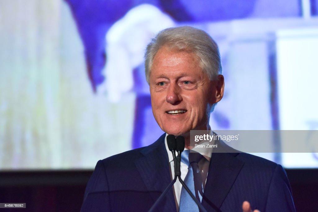 Former U.S. President Bill Clinton attends the Oceana New York Gala at Blue Hill at Stone Barns on September 13, 2017 in Tarrytown, New York.