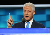Former US President Bill Clinton delivers remarks on the second day of the 2016 Democratic National Convention at Wells Fargo Center on July 26 2016...