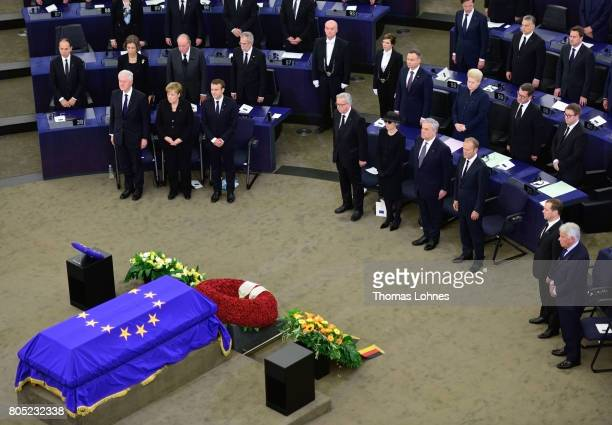 Former US President Bill Clinton German Chancellor Angela Merkel French President Emmanuel Macron European Commission President JeanClaude Juncker...