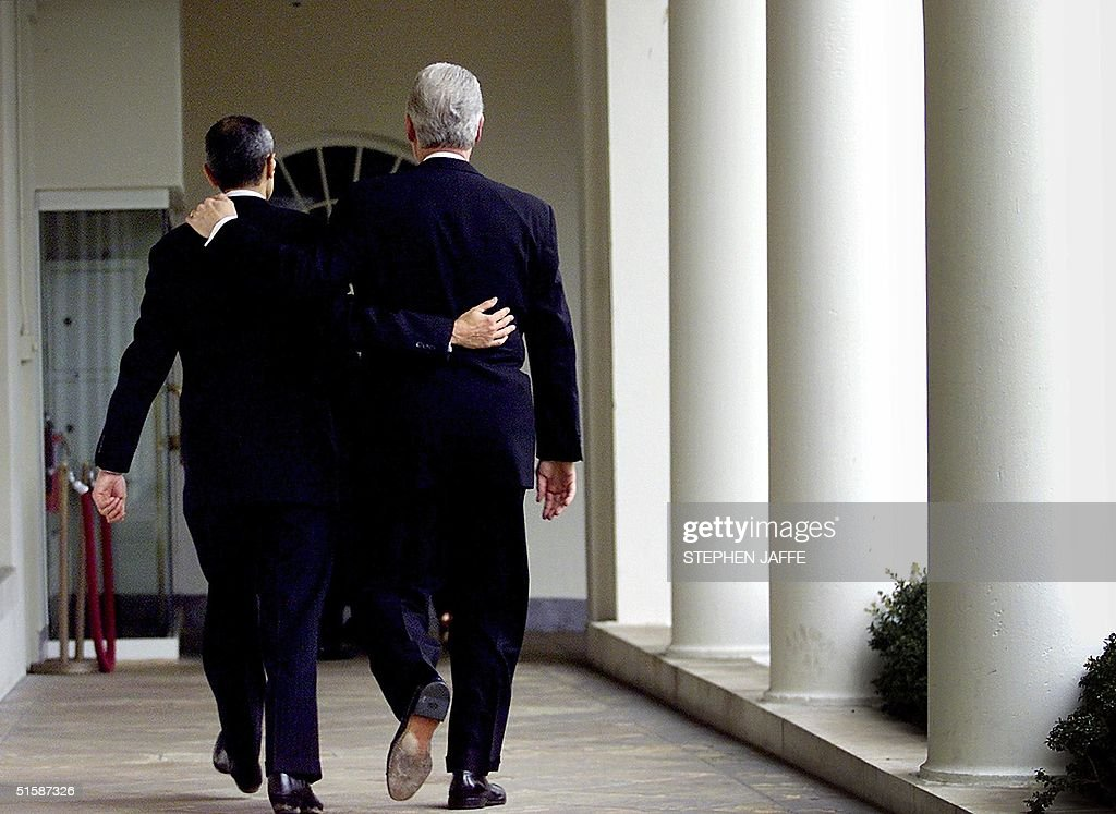 former us president bill clinton r leaves the oval office at the white house bill clinton oval office