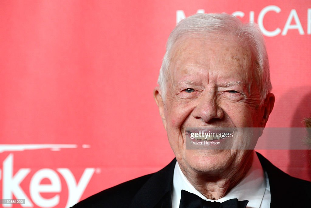 Former U.S. President <a gi-track='captionPersonalityLinkClicked' href=/galleries/search?phrase=Jimmy+Carter+-+US+President&family=editorial&specificpeople=93589 ng-click='$event.stopPropagation()'>Jimmy Carter</a> attends the 25th anniversary MusiCares 2015 Person Of The Year Gala honoring Bob Dylan at the Los Angeles Convention Center on February 6, 2015 in Los Angeles, California. The annual benefit raises critical funds for MusiCares' Emergency Financial Assistance and Addiction Recovery programs.