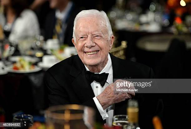 Former US President Jimmy Carter attends the 25th anniversary MusiCares 2015 Person Of The Year Gala honoring Bob Dylan at the Los Angeles Convention...