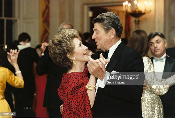 Former US President Ronald Reagan dances with former First Lady Nancy Reagan in this undated file photo Reagan turns 93 on February 6 2004