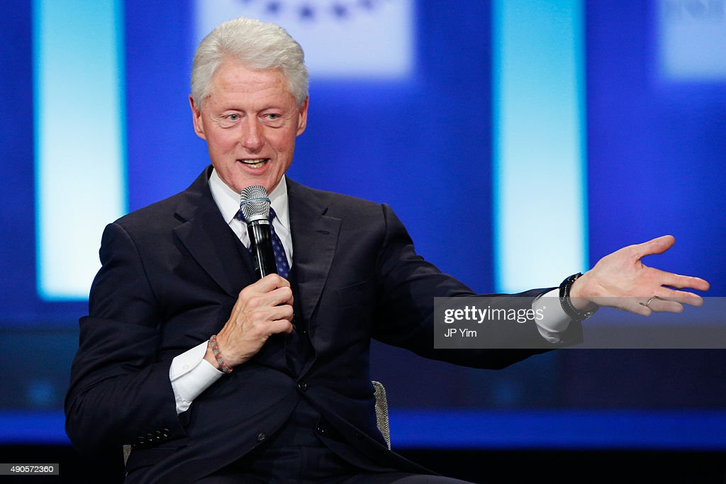 Former U.S. President speaks on stage at the closing session of the Clinton Global Initiative 2015 on September 29, 2015 in New York City.