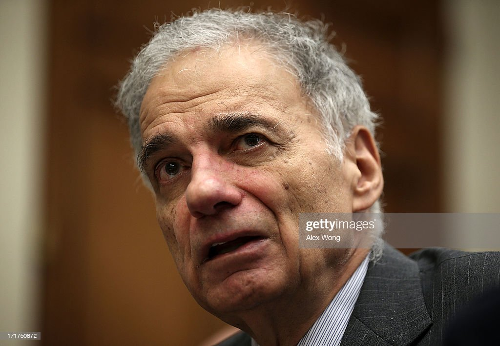 Former U.S. presidential candidate Ralph Nader speaks during a discussion June 28, 2013 on Capitol Hill in Washington, DC. Rep. Maxine Waters (D-CA) held the discussion on 'A Way Forward For Housing Finance Reform: Finding Sustainable Solutions to Ensure Access, Affordability, and Taxpayer Protection Part II.'