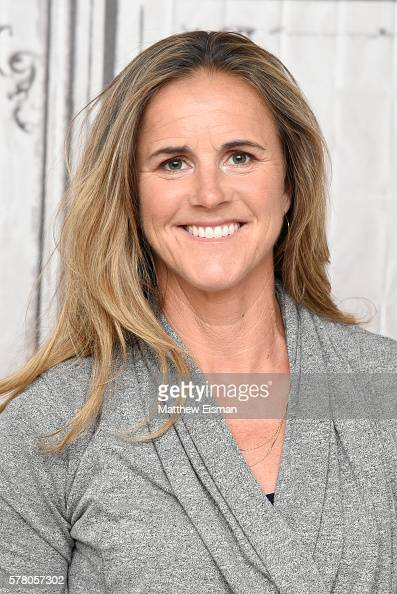 Former US Professional Soccer player Brandi Chastain attends AOL Build Speaker Series Soccer Hall Of Fame Inductee Brandi Chastain Discusses Olympic...
