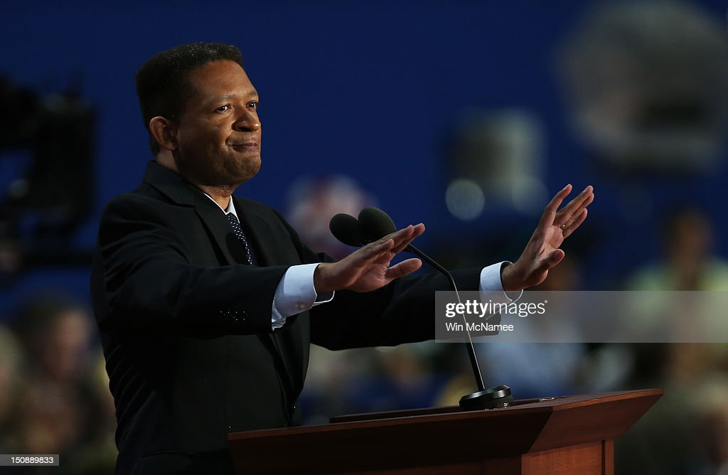 Former U.S. Rep. <a gi-track='captionPersonalityLinkClicked' href=/galleries/search?phrase=Artur+Davis&family=editorial&specificpeople=4177551 ng-click='$event.stopPropagation()'>Artur Davis</a> speaks during the Republican National Convention at the Tampa Bay Times Forum on August 28, 2012 in Tampa, Florida. Today is the first full session of the RNC after the start was delayed due to Tropical Storm Isaac.