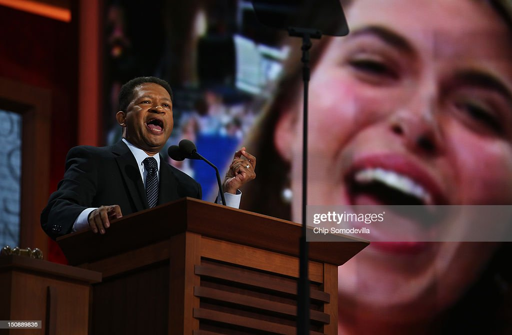 Former U.S. Rep. Artur Davis speaks during the Republican National Convention at the Tampa Bay Times Forum on August 28, 2012 in Tampa, Florida. Today is the first full session of the RNC after the start was delayed due to Tropical Storm Isaac.