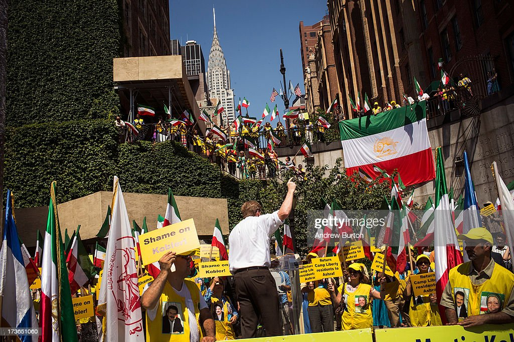 Former U.S. Rep. Patrick Kennedy (D-RI) speaks during a protest outside the United Nations (U.N.) during a U.N. Security Council meeting on July 16, 2013 in New York City. The protest centered around the recent attacks against exiled Iranian dissidents living in Iraq. Members of The People's Mujahedeen of Iran (MEK) have been living in Camp Ashraf and Camp Camp Liberty, both in Iraq; the protesters allege that the United Nations Assistance Mission in Iraq has not done enough to protect the exiled dissidents from the recent attacks.