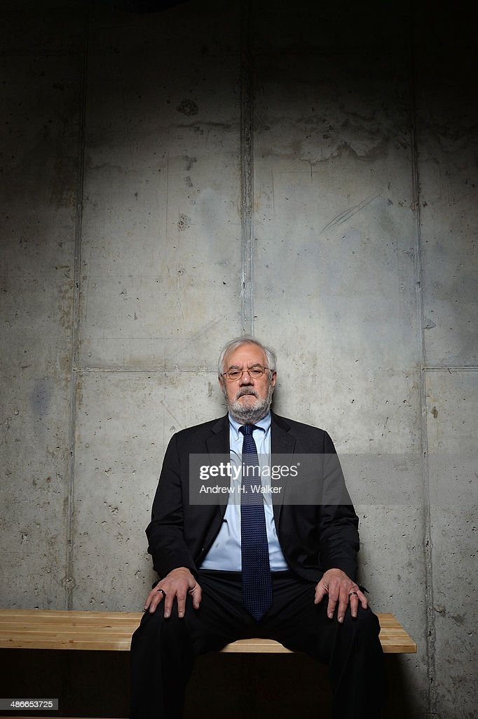 Former U.S. Representative and documentary subject Barney Frank from 'Compared to What: The Improbable Journey of Barney Frank' poses for the Tribeca Film Festival Getty Images Studio on April 25, 2014 in New York City.