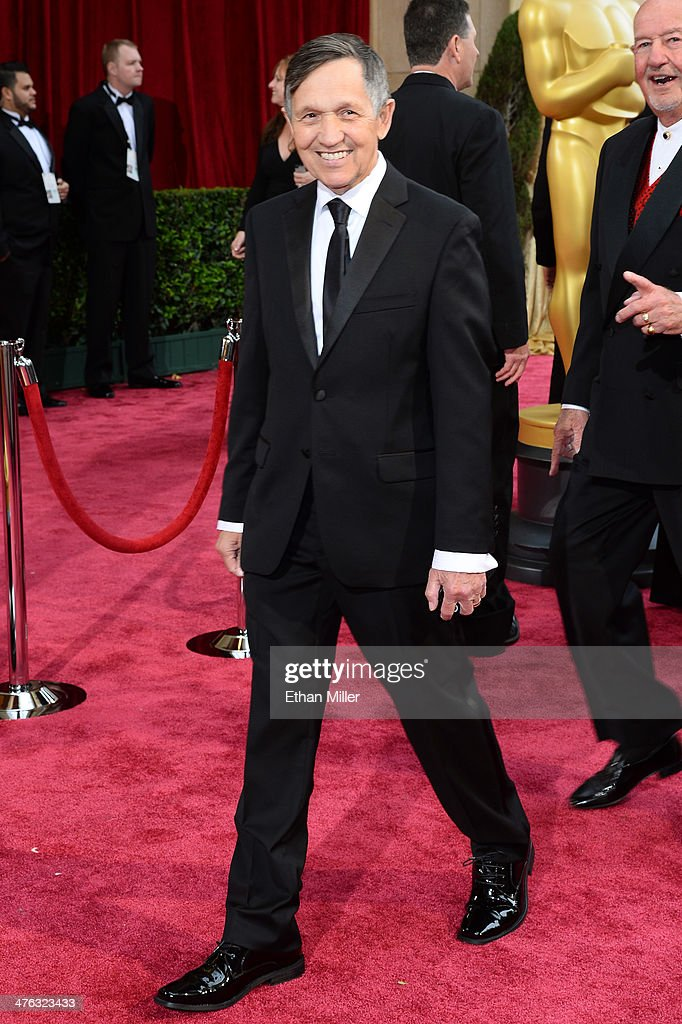 Former US Representative Dennis Kucinich attends the Oscars held at Hollywood Highland Center on March 2 2014 in Hollywood California