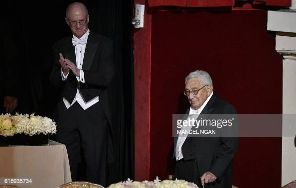 Former US secretary of state Henry Kissinger arrives for the 71st annual Alfred E Smith Memorial Foundation Dinner at the WaldorfAstoria Hotel in New...