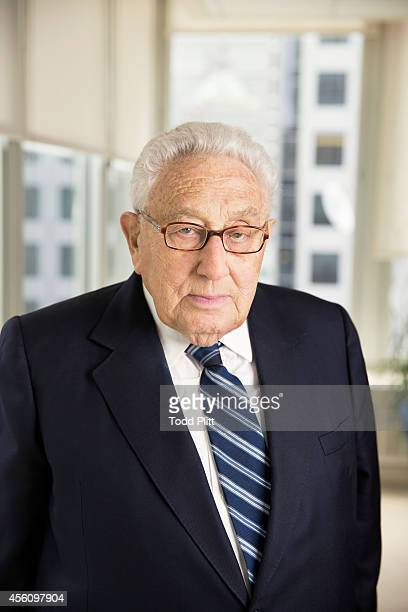 Former US Secretary of State Henry Kissinger is photographed for USA Today on September 8 2014 in New York City