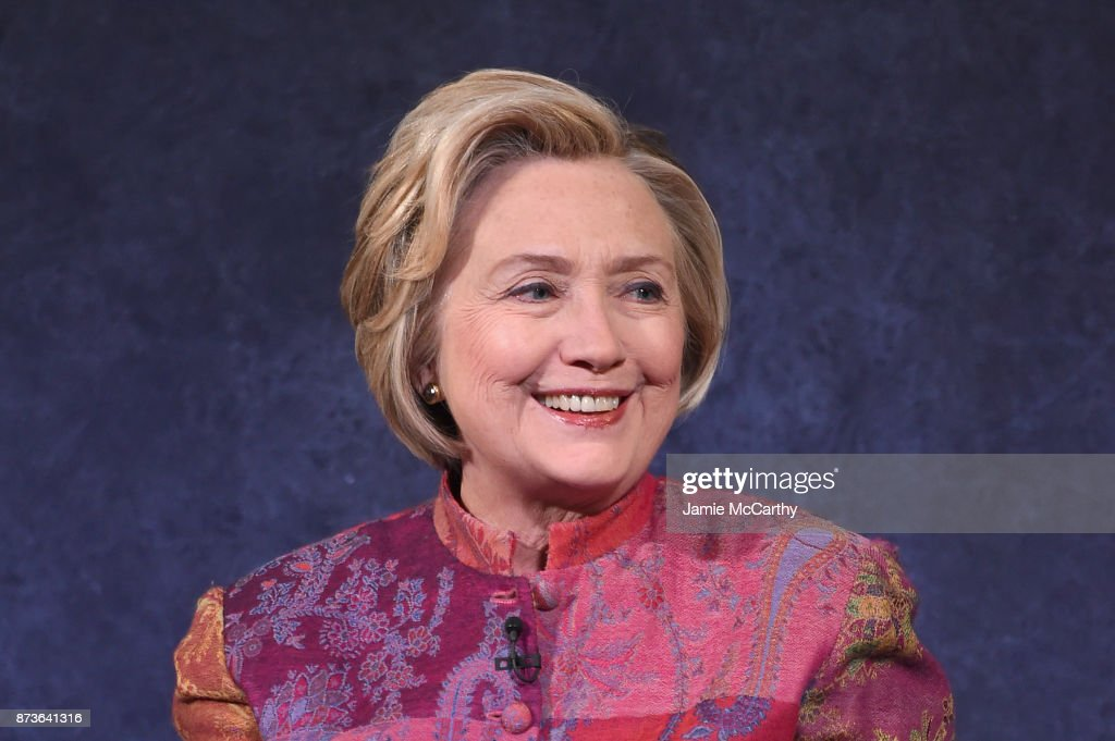 Former US Secretary of State Hillary Rodham Clinton speaks onstage during The Child Mind Institute Summit: The State of Child & Adolescent Mental Health at The Paley Center for Media on November 13, 2017 in New York City.