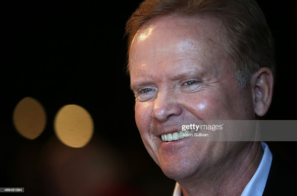 Former U.S. Sen. <a gi-track='captionPersonalityLinkClicked' href=/galleries/search?phrase=Jim+Webb&family=editorial&specificpeople=3986302 ng-click='$event.stopPropagation()'>Jim Webb</a> (D-VA) looks on during a fundraiser for Iowa House Democrats representatives Todd Prichard and Sharon Steckman at CHOP Restaurant on April 12, 2015 in Mason City, Iowa. Former Sen. Webb is considering a run for president in 2016.