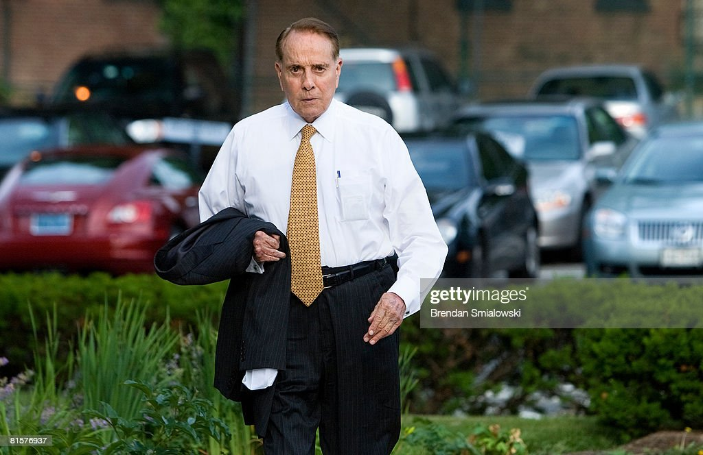 Former US Senator Bob Dole (R-KS) arrives at NBC's bureau June 15, 2008 in Washington, DC. This week's Meet the Press show was a tribute to host Tim Russert who died at age 58 of a heart attack last week.