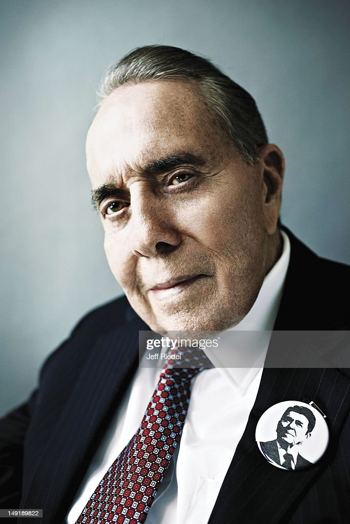 Former US Senator, <a gi-track='captionPersonalityLinkClicked' href=/galleries/search?phrase=Bob+Dole&family=editorial&specificpeople=118596 ng-click='$event.stopPropagation()'>Bob Dole</a> is photographed for GQ Magazine on May 1, 2012 in New York City. ON EMBARGO UNTIL OCTOBER 01, 2012.