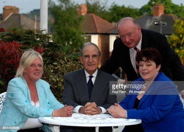 Former US Senator George Mitchell with Jeanette Ervine wife of former Progressive Unionist Party leader David Ervine Dawn PurvisLeader of the PUPand...