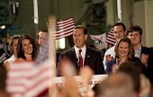 Former US Senator Rick Santorum announces his candidacy for the 2016 Republican nomination for president at Penn United Technologies May 27 2015 in...