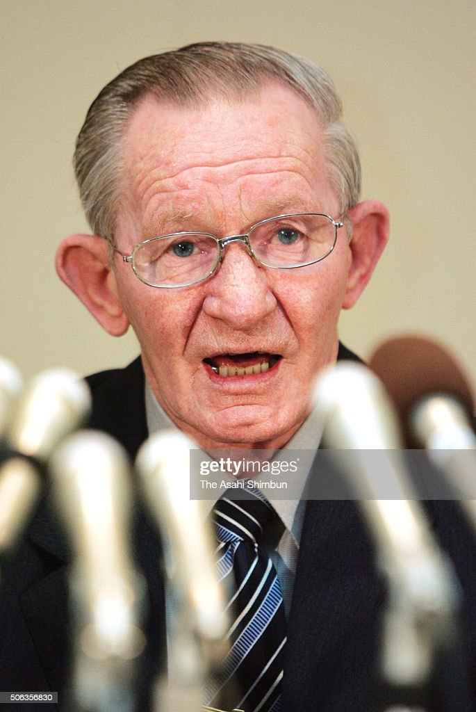 Former US soldier Charles Jenkins speaks during a press conference at the Sado City Hall on January 31 2005 in Sado Niigata Japan