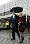 Former US Vice President Al Gore and his wife Tipper are announced at the opening ceremony of the William J Clinton Presidential Center in Little...