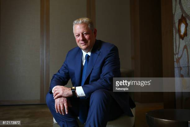 SYDNEY NSW Former US Vice President Al Gore poses during a photo shoot at the Park Hyatt Hotel in Sydney New South Wales