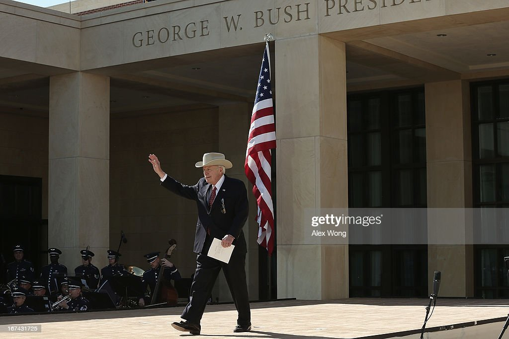 Former U.S. Vice President Dick Cheney attends the opening ceremony of the George W. Bush Presidential Center April 25, 2013 in Dallas, Texas. The Bush library, which is located on the campus of Southern Methodist University, with more than 70 million pages of paper records, 43,000 artifacts, 200 million emails and four million digital photographs, will be opened to the public on May 1, 2013. The library is the 13th presidential library in the National Archives and Records Administration system.