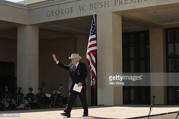Former US Vice President Dick Cheney attends the opening ceremony of the George W Bush Presidential Center April 25 2013 in Dallas Texas The Bush...
