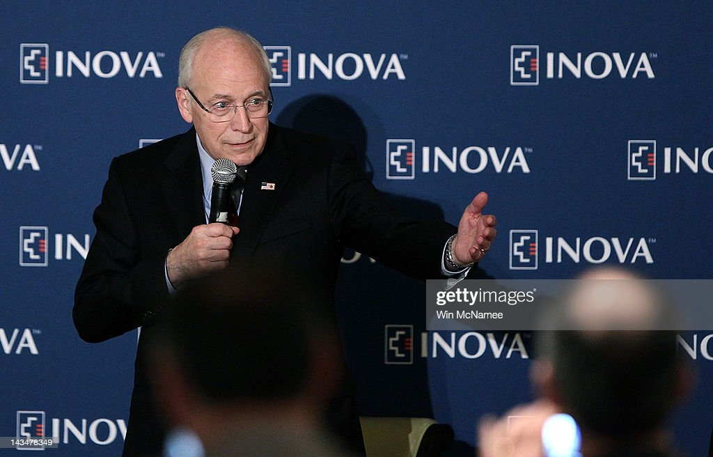 Former U.S. Vice President <a gi-track='captionPersonalityLinkClicked' href=/galleries/search?phrase=Dick+Cheney&family=editorial&specificpeople=125149 ng-click='$event.stopPropagation()'>Dick Cheney</a> speaks at the Inova Heart and Vascular Institute Cardiovascular Symposium April 27, 2012 in McLean, Virginia. Cheney discussed his recent heart transplant during his remarks to the symposium.