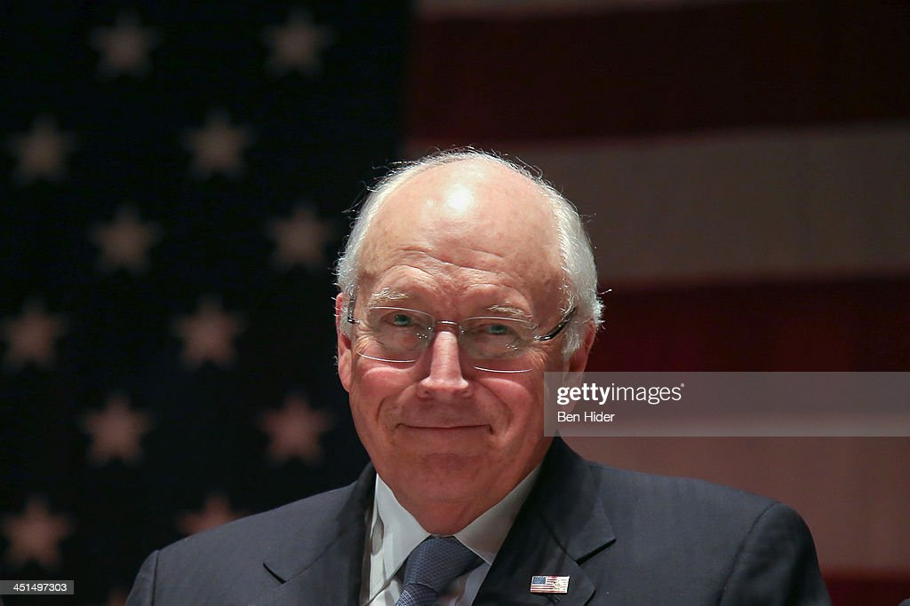 Former U.S. vice-president <a gi-track='captionPersonalityLinkClicked' href=/galleries/search?phrase=Dick+Cheney&family=editorial&specificpeople=125149 ng-click='$event.stopPropagation()'>Dick Cheney</a> attends 2013 Federal Law Enforcement Foundation Luncheon at The Waldorf=Astoria on November 22, 2013 in New York City.