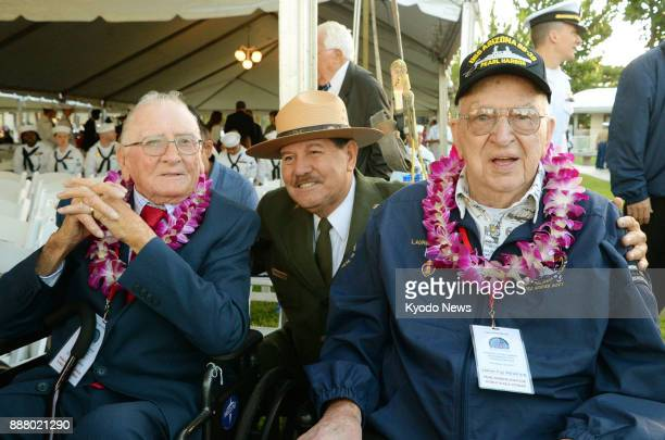 Former USS Arizona crew members Donald Stratton and Lauren Bruner attend a ceremony in Hawaii on Dec 7 2017 to commemorate the victims of the 1941...
