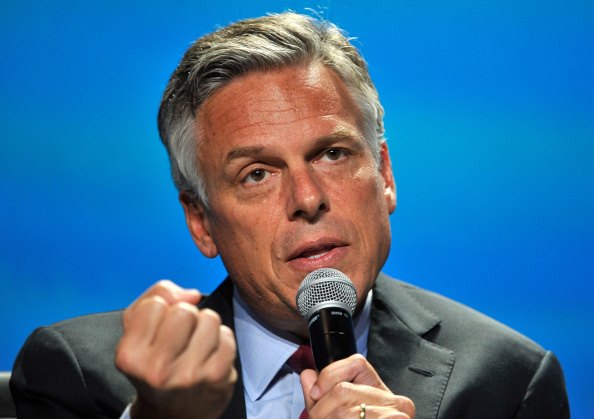 Former Utah Gov Jon Huntsman Jr speaks at the National Clean Energy Summit 70 at the Mandalay Bay Convention Center on September 4 2014 in Las Vegas...