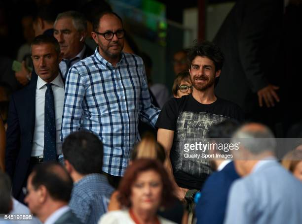 Former Valencia CF player Pablo Aimar prior the La Liga match between Valencia CF and Atletico Madrid at Mestalla Stadium on September 9 2017 in...