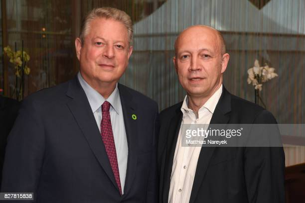 Former Vice President Al Gore and Andreas Kuhlmann attend a special screening of 'An Inconvenient Sequel Truth to Power' at Zoo Palast on August 8...
