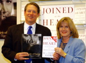 Former Vice President Al Gore and Tipper Gore during Former Vice President Al Gore and Wife Tipper Gore Book Signing for 'Joined at the Heart' at...