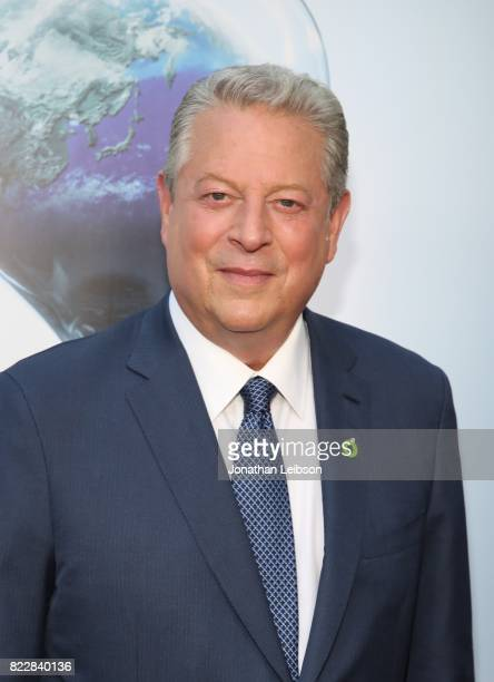 Former Vice President Al Gore attends a special Los Angeles screening of 'An Inconvenient Sequel Truth to Power' at ArcLight Hollywood on July 25...