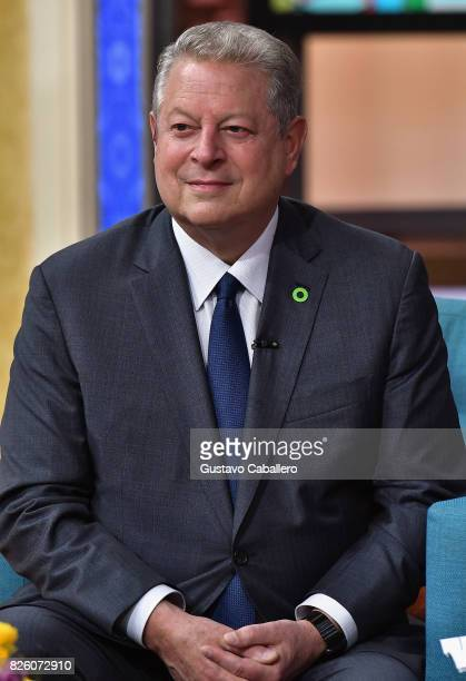 Former Vice President Al Gore is seen on the set of 'Despierta America' to promote the film An Inconvenient Sequel Truth To Power at Univision...