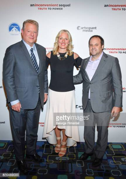 Former Vice President Al Gore Minister of the Environment and Climate Change Catherine McKenna and Producer Jeff Skoll attend a special Toronto...