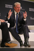 Former Vice President Al Gore participates in a questionandanswer interview during the seventh annual Washington Ideas Forum at the Harman Center for...
