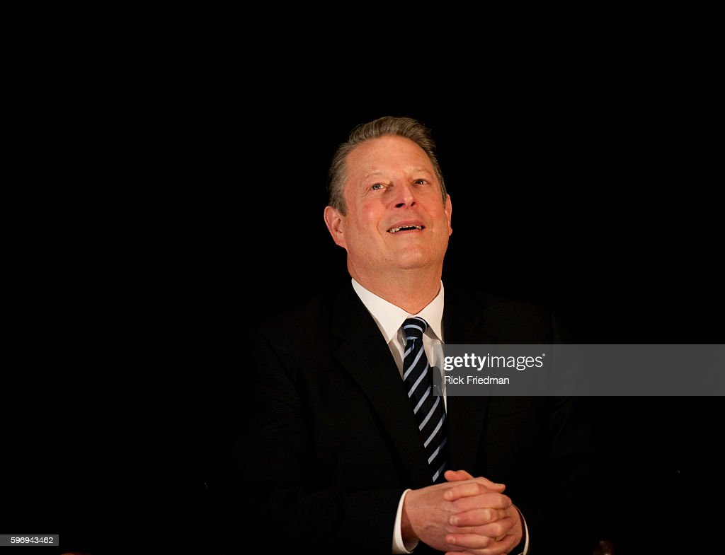 Former Vice President Al Gore speaks at the announcement of the Climate Action Leadership Committee at Boston Latin School in Boston Massachusetts...