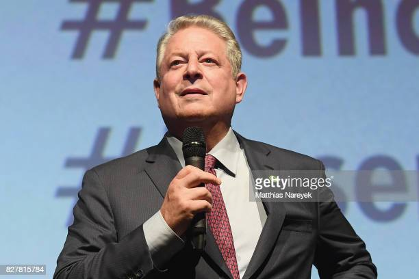 Former Vice President Al Gore speaks on stage at special screening of 'An Inconvenient Sequel Truth to Power' at Zoo Palast on August 8 2017 in...
