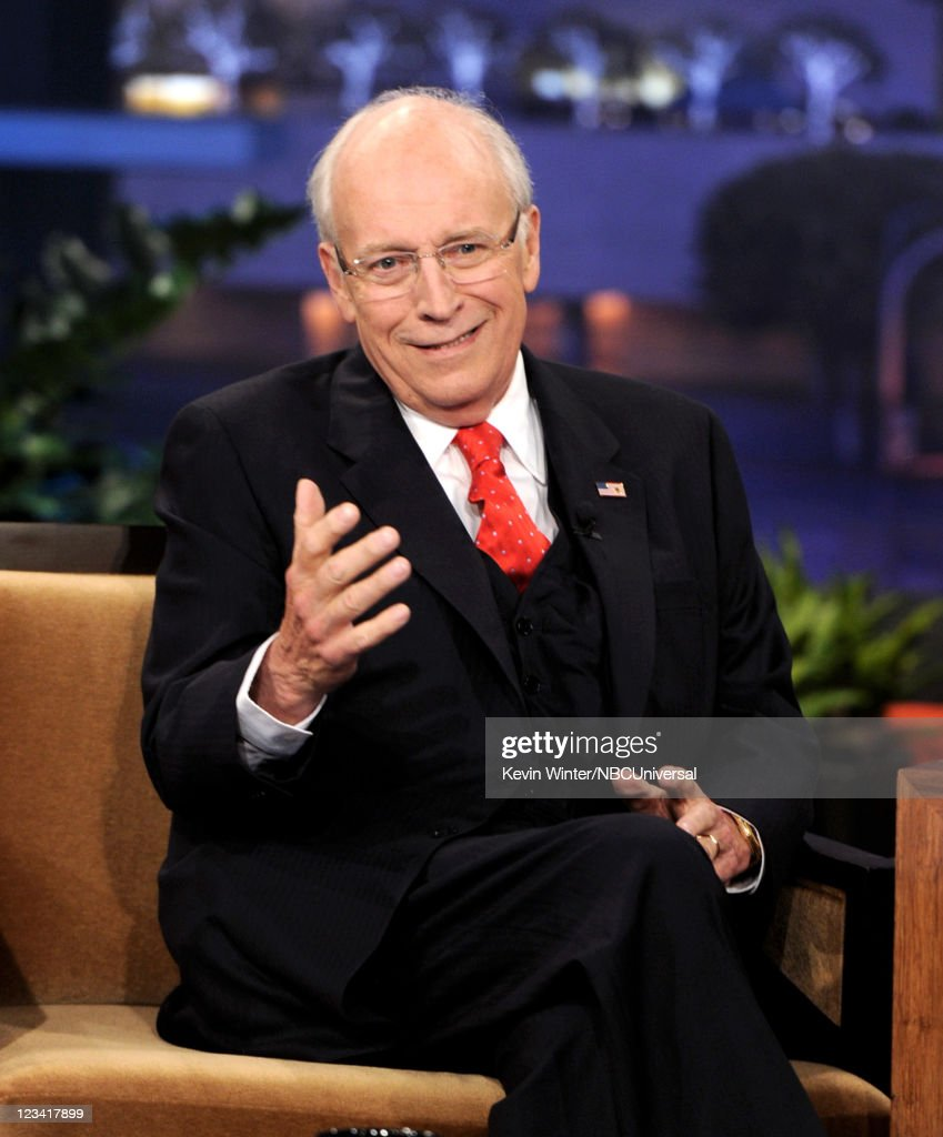 Former Vice President <a gi-track='captionPersonalityLinkClicked' href=/galleries/search?phrase=Dick+Cheney&family=editorial&specificpeople=125149 ng-click='$event.stopPropagation()'>Dick Cheney</a> appears on The Tonight Show with Jay Leno at the NBC Studios on September 2, 2011 in Burbank, California.