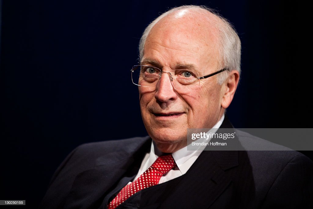 Former Vice President Dick Cheney is interviewed by SiriusXM Patriot host David Webb at SiriusXM studios on October 25, 2011 in Washington, DC. Cheney recently released his memoir, 'In My Time.'