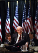 Former Vice President Dick Cheney speaks at the Long Island Association fall luncheon at the Crest Hollow Country Club on October 18 2012 in Woodbury...