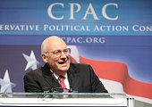 Former Vice President Dick Cheney speaks to attendees at the annual Conservative Political Action Conference on February 18 2010 in Washington DC...