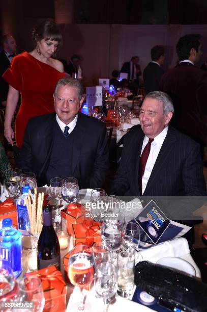 Former Vice President of the United States Al Gore and journalist Dan Rather attend The 2017 IFP Gotham Independent Film Awards cosponsored by...